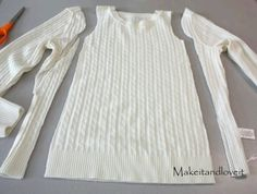 Make a little girl's dress from an old sweater you no longer wear
