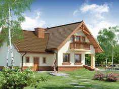 Projekt domu Gracjan 131,33 m2 - koszt budowy 249 tys. zł - EXTRADOM Simple House Design, Dream Home Design, Modern House Design, 2bhk House Plan, Model House Plan, Design Case, Küchen Design, 1200 Sq Ft House, Hacienda Homes