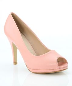 Look what I found on #zulily! Blush Nine Peep-Toe Pump by Bella Marie #zulilyfinds