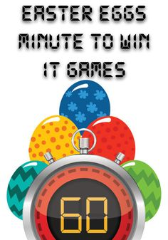 Use these FREE Easter Egg Minute to Win It Games! These 10 free Easter Egg Minute to Win It Games are perfect for Children's Church or Sunday School. Easter Games For Kids, Easter Activities, Easter Ideas, Youth Activities, Easter Projects, Easter Crafts, Church Games, Kids Church, Church Ideas