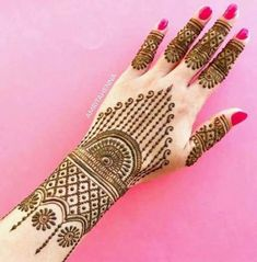 Explore latest Mehndi Designs images in 2019 on Happy Shappy. Mehendi design is also known as the heena design or henna patterns worldwide. We are here with the best mehndi designs images from worldwide. New Bridal Mehndi Designs, Simple Arabic Mehndi Designs, Henna Art Designs, Mehndi Designs For Girls, Mehndi Designs 2018, Mehndi Designs For Beginners, Modern Mehndi Designs, Dulhan Mehndi Designs, Mehndi Design Photos