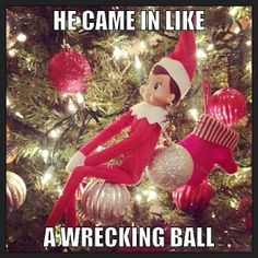 Because the world needed a Miley Cyrus version of Elf on the Shelf. @lesley vaters This is just so funny, Karen would get such a kick out of it!