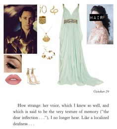 """Seeing Loki for the first time in Asguard"" by me1ody ❤ liked on Polyvore featuring Marchesa, Giuseppe Zanotti, Twigs & Honey, Madina Visconti di Modrone, Chanel, Ottoman Hands, love, beautiful, formal and story"