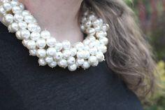 Como Hacer Collares De Perlas | de moda, costura y diy: Oh, Mother Mine DIY!!: DIY Collar de perlas ...