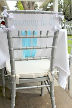 Baby shower ideas - cute DIY mommy to be chair