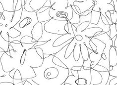 Sketch Flowers by Sanziana Toma - Naive flowers mixed in a childish and playful way! Black and white contrast!