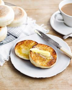 The traditional English muffin is a perfect thing: dense, chewy, made to be toasted, then slathered in butter. Once you've made your own, no shop-bought muffin will ever be good enough.