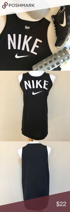 "NIKE TOMBOY Women's Training Tank Top Nike Tomboy Graphic Women's Tank  A wide racerback design offers coverage without hindering mobility, while the loose fit gives you extra room to move.   Dri-FIT fabric wicks moisture away easily. Plus, screen-printing front and center adds athletic style to this adorable, comfy tank.  Size:  Women's Large   Approximate Measurements: Bust: 42"" Length from shoulder to bottom: 26""  Material: 60% Cotton 40% Polyester Nike Tops Tank Tops"