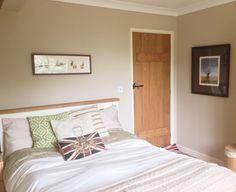 Walls - Farrow & Ball Oxford Stone Farrow And Ball Bedroom, Farrow And Ball Paint, Farrow Ball, Neutral Color Scheme, Colour Schemes, Two Bedroom, Home Bedroom, Bedrooms, Farrow And Ball Oxford Stone