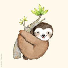 "joojoo-- ""S is for Sloth"" ... #illustration #artist #art #drawing"