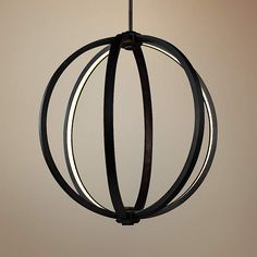 """Feiss Klohe 20"""" Wide Oil Rubbed Bronze LED Orb Pendant - #8H794 