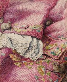 'The Mice Stitching Button-Holes', from The Tailor of Gloucester, Beatrix Potter, c.1902