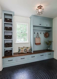 """Fantastic """"laundry room storage diy cabinets"""" info is offered on our site. Have a look and you wont be sorry you did. Mudroom Laundry Room, Laundry Room Design, Country Laundry Rooms, Bench Mudroom, Small Room Design, Family Room Design, Floor Design, House Design, Style Deco"""
