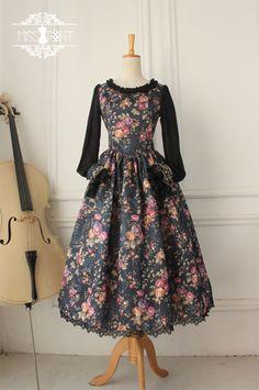 Miss Point Vintage Floral Printed Lolita OP Dress