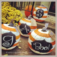 preppy monogram pumpkins