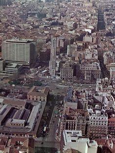 Plaza de Colón - inicio de la construcción de las Torres de Colón - mediados de los '60
