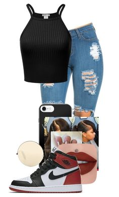A fashion look from January 2017 featuring cami top, high-waisted jeans and round sunglasses. Browse and shop related looks. Swag Outfits For Girls, Cute Outfits For School, Teenage Girl Outfits, Cute Swag Outfits, Teenager Outfits, Dope Outfits, Teen Fashion Outfits, Simple Outfits, Stylish Outfits