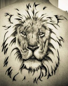 3d-lion-face-tattoo-back.jpg (424×533)