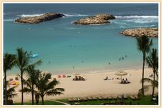 View of Disney's Aulani Beach Oahu Hawaii