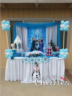 Items similar to FROZEN PARTY, Frozen banner ( frozen decoration), candy buffet table, candy buffet, candy bar decoration on Etsy Elsa Birthday Party, Frozen Themed Birthday Party, Disney Frozen Birthday, Frozen Disney, Frozen Candy Buffet, Frozen Dessert Table, Frozen Party Decorations, Birthday Party Decorations, Fiesta Decorations