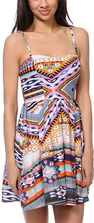 2ae073c0ca6 Head to the beaches or the boardwalks in summer ready style with the Tribal  dress from Love