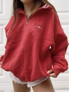 Cheap Women Cothing Online Store - Chicshes,com Retro Outfits, Grunge Outfits, Fashion Outfits, Women's Fashion, Sweatshirt Outfit, Hoodie Outfit Casual, Collared Sweatshirt, Tokyo Street Fashion, Style Grunge
