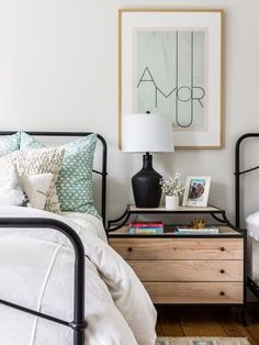 Soft shades of mint serve as an accent color in this kid's room desing. Rug Over Carpet, Brick Flooring, Keeping Room, Kids Room Design, Big Houses, Hudson Valley, Dresser As Nightstand, Outdoor Furniture Sets, Interior Design