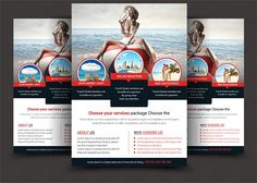 Travel Tours Flyer Templates by AfzaalGraphics on @creativemarket