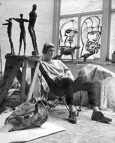 """Elisabeth Frink (U.K., 14 November 1930 – 18 April 1993) was an English sculptor and printmaker. Essential themes in her work were the nature of Man; the """"horseness"""" of horses; and the divine in human form."""