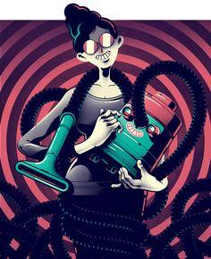 Wired - Miss Know It Alll - Gabriel Silveira - Ilustrador