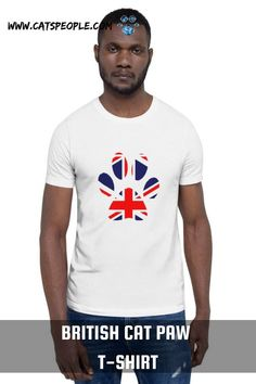 The British flag inside a cat paw design for british cat owners and cat lovers. For english cat parents who are proud of their cats and country, this t-shirt is just purrfect for you! This t-shirt is everything british cat moms and cat dads dream of! #britishcatpaw #britishcatlover #britishcatmom #britishcatlady #britishcatdad #britishcattshirt #britishcatlovertshirt #catmomtshirt #catdadtshirt #catlovertshirt