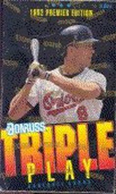 1992 Donruss Premier Edition Triple Play MLB Baseball Cards Unopened Box 10700950437 | eBay
