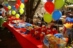 Elmo themed party cute ideas here.