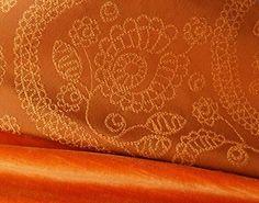 Bright and Beautiful Petaluma over our vibrant Torino velvet.   Place Textiles!