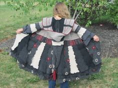 Upcycled Child Sweater Coat from Vintage Delights