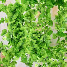 82 Ft Artificial Grape Vine Faux Ivy Leaf Garland Plants Fake Foliage Home Décor Ivy Leaf, Leaf Garland, Artificial Plants, Decoration, Grape Vines, Diy And Crafts, Frames, Herbs, Home Decor