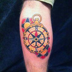 Αποτέλεσμα εικόνας για compass tattoo colour