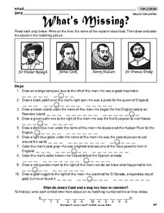 Printables Early Explorers Worksheets explorers unit james barnes and cases on pinterest worksheet english explorers