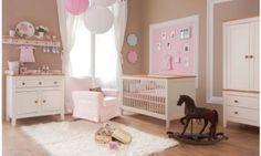 "Babyzimmer Kinderzimmer ""ROYAL Creme"" Babymöbel Set 4tlg komplett Schrank 2-türig Babybett Wickelkommode Wandregal: Amazon.de: Baby"