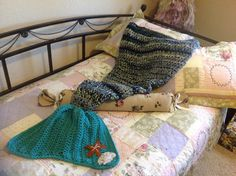 Mermaid TailMermaid Throw-child size RTS by Unique2who on Etsy