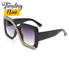 Large Diamante Sunglasses- Barbara Buy Sunglasses Online, Eighties Style, Beach Wearing, Day And Time, Ibiza, Lens, Product Description, Glamour, Free Shipping