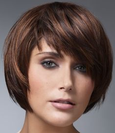 Trendy Haircuts for Short Hair Ideas, Short Brown Hair Layered Bob Fat Round Face Hairstyles, Short Hair Cuts For Round Faces, Short Hair With Layers, Long Hair Cuts, Short Hairstyles For Women, Hairstyles Haircuts, Round Haircut, Pageboy Haircut, Office Hairstyles