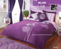 Bedding Sets Purple Bedroom Ideas: for my daughter's roomPurple Bedroom Ideas: for my daughter's room Lilac Bedroom, Purple Bedding Sets, Purple Bedrooms, Dream Bedroom, Home Bedroom, Bedroom Decor, Bedroom Ideas, Purple Comforter, Purple Home