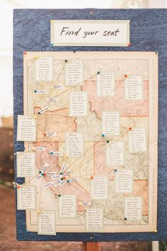 Trendy Ideas For Table Seating Chart Wedding Map Table Seating Chart, Seating Chart Wedding, Wedding Table, Wedding Blog, Wedding Events, Map Wedding, Wedding Ideas, Wedding Decorations, Wedding Inspiration