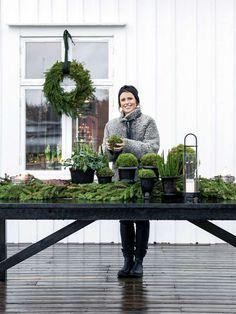 Jul hos floristen Anna Elwing. Anna Truelsen, foto Carina Olander.