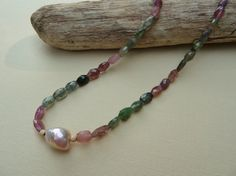 Beautiful Multi-Color Tourmaline Necklace by suzannenoeldesigns