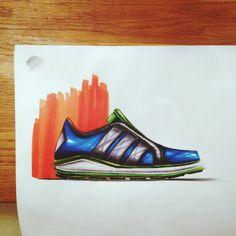 Shoeconcept - Industrial design sketch by Mattias Borg #id #industrial #design #product #sketch