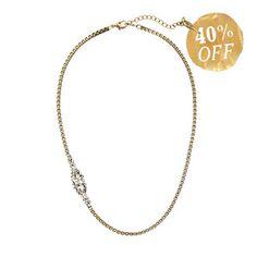 Petite Pear Crystal Collar Necklace - was $38, now $22!.. until 11:59pm EST https://www.chloeandisabel.com/boutique/kristela#19906