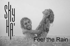 Feel the Rain from the inside-out drinking Sky Ha' Rainwater. Purified drinking rainwater from the Caribbean