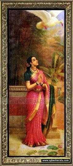 Swan Messenger - Collection of oil paintings of Raja Ravi Varma the great artist of Kerala, India Ravivarma Paintings, Indian Art Paintings, Classic Paintings, Fantasy Kunst, Fantasy Art, Arte Krishna, Raja Ravi Varma, Indian Folk Art, Verse